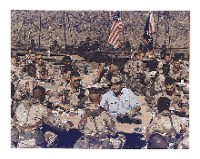 President Bush with Gulf War troops