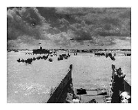 The Normandy Beach invasion, World War II