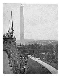 Washington Monument under construction