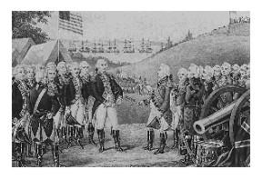 George Washington and Cornwallis at Yorktown