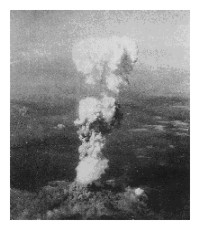 Smoke from Hiroshima atomic bomb blast