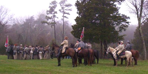Reenactors at Appomattox