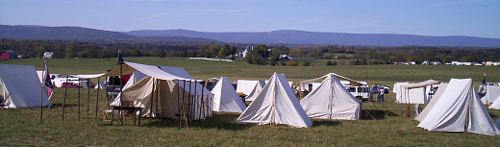 Reenactors Tents on grounds of Belle Grove Plantation