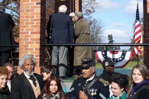 Frederick Douglass and other reenactors