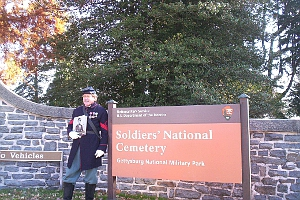Entrance to the Military Cemetery at Gettysburg Today