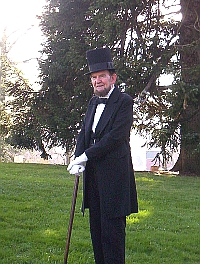 Actor James Getty as Abraham Lincoln 2012