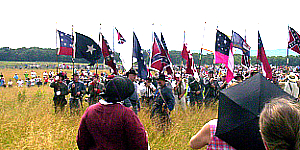 Pickett's Charge battle walk during 150th Anniversary of the Battle of Gettysburg