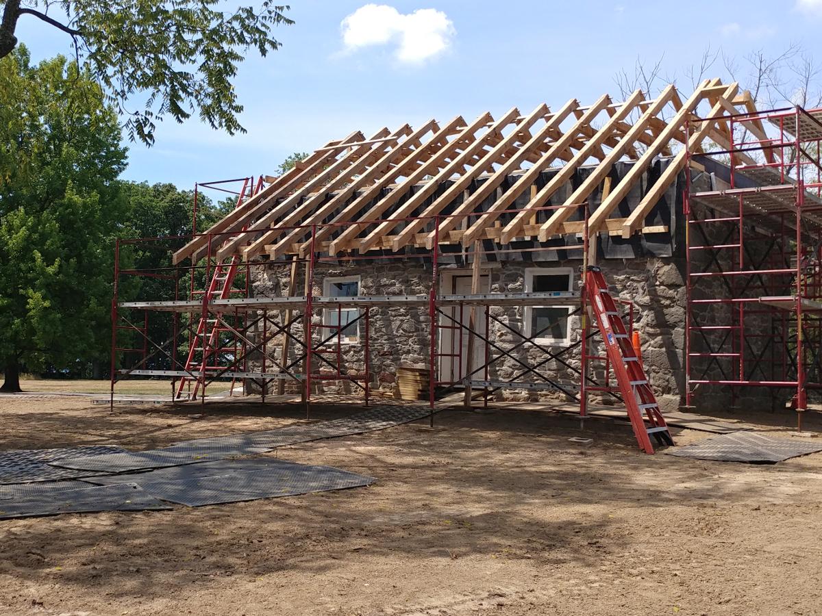 Warfield House restoration at Gettysburg