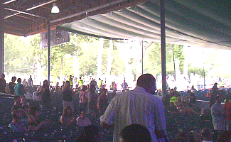 Covered pavilion seats at Merriweather Post Pavilion, Baltimore