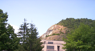 Sideling Hill Cut along Interstate 68, the National Freeway
