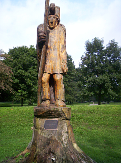 Indian Moundbuilders Statue, Hopewell Indian Earthworks