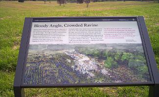 Marker at Spotsylvania's Bloody Angle