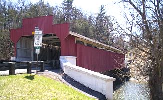 Covered Bridge on trail at Trexler Nature Preserve