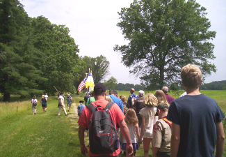 Valley Forge Soldiers Walk Out Ranger Program