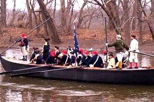 Reenactment of Washington's Crossing the Delaware