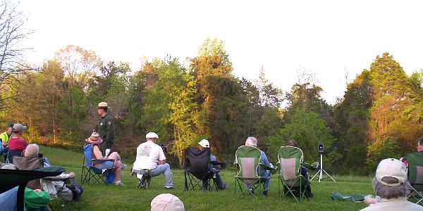 Ranger Talk at the Wilderness Battlefield