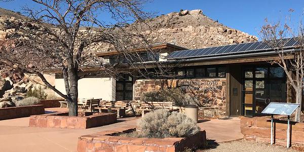 Visitor Center at Jurassic National Monument