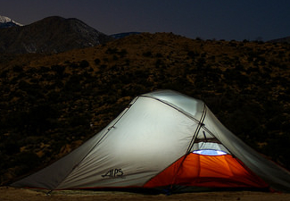 Camping at Sand to Snow National Monument