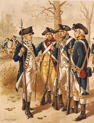 Continental Army soldiers, American Revolution