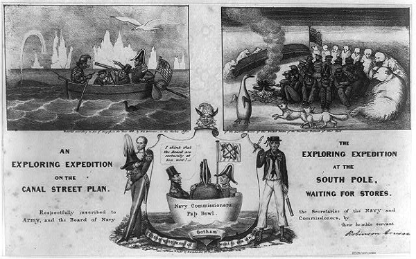 Cartoon of the Wilkes Expedition