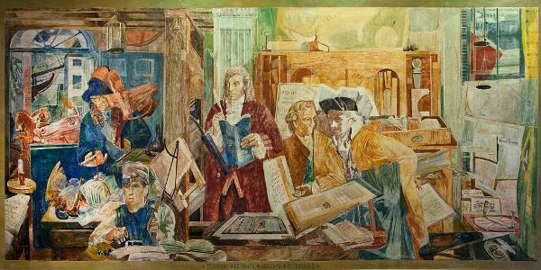 Ben Franklin at Printing Press