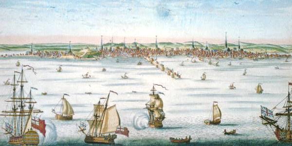 Colonial Boston Harbor