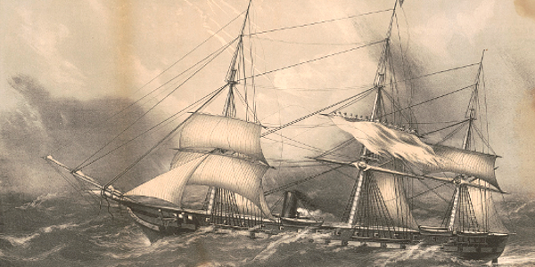 Wabash off Cape Hatteras, 1856