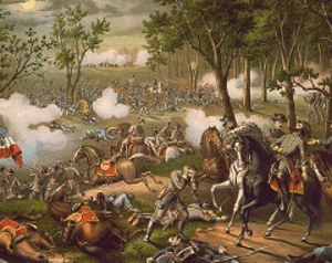 Illustration of the Battle of Chancellorsville