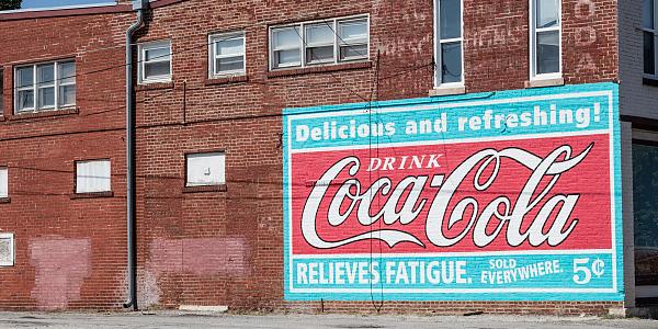 Coca-Cola Building Sign