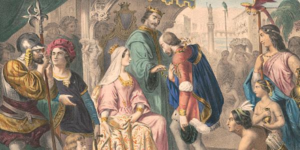 Columbus Return to Spain 1493
