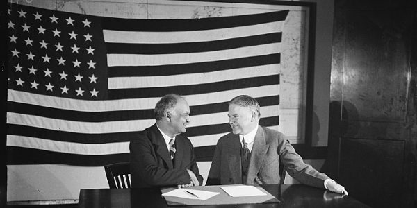 Charles Curtis and Herbert Hoover