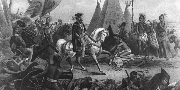 Hernando de Soto Discovering the Mississippi