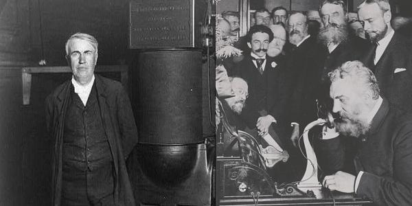 Thomas Edison Alexander Graham Bell