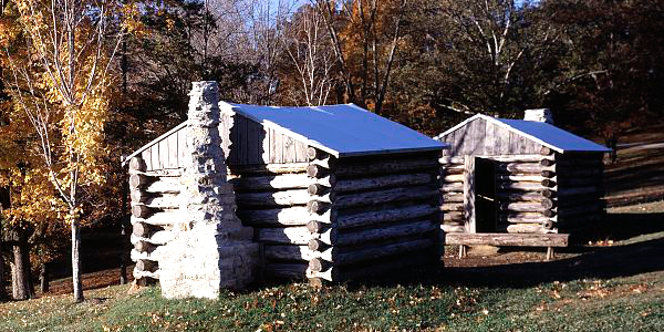 Log huts at Fort Donelson