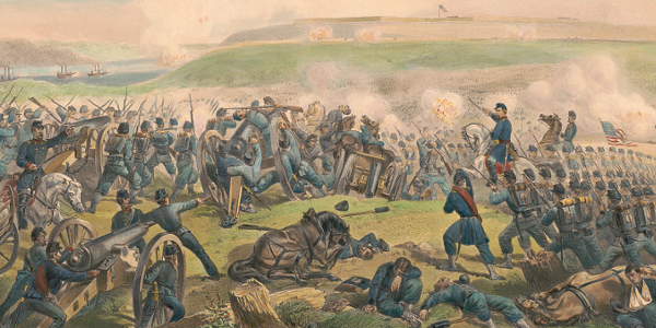 Lithograph of the Battle of Fort Donelson