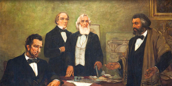 Frederick Douglass and President Abraham Lincoln