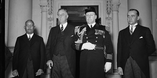 President Roosevelt and President Vincent of Haiti