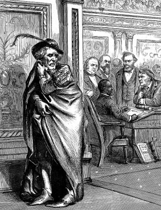 Political Cartoon, Jefferson Davis and Hiram Rhodes Revels