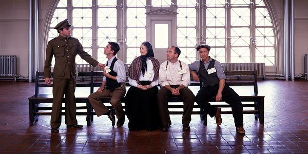 Reenactment of Immigrants at Ellis Island