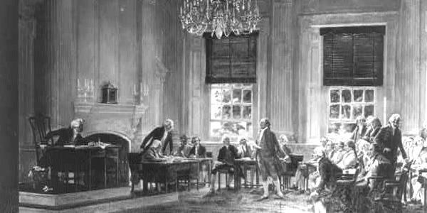 John Adams Nominating George Washington for Commander-in-Chief