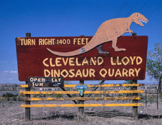 Old Sign to Cleveland Lloyd Dinosaur Quarry