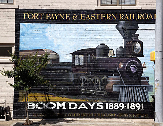 Mural in Fort Payne
