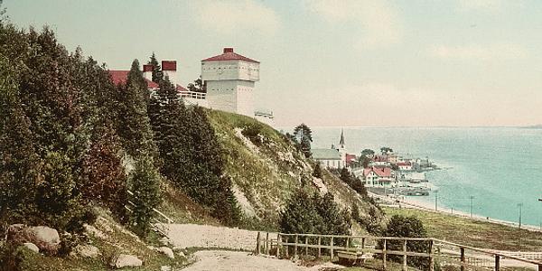 Fort Mackinac and Mackinac Island Harbor