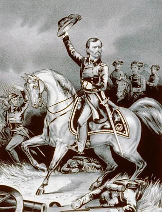 General Slocum at Pea Ridge Battle