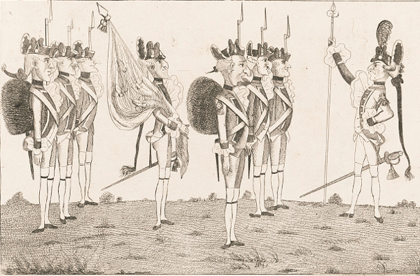 Rochambeau Reviewing French Troops