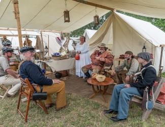 Reenactors at San Jacinto Battleground