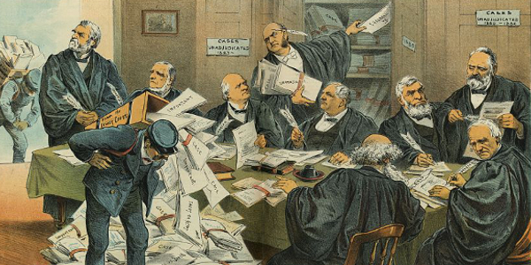 Political Cartoon about the Supreme Court 1885
