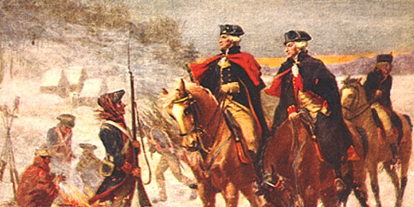 George Washington and Lafayette at Valley Forge