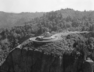 View of Vista House and Crown Point