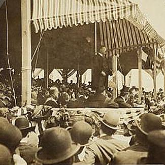 President Roosevelt at Jamestown 1907 Opening